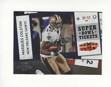 2010 Playoff Contenders Super Bowl Ticket #75 Marques Colston Saints