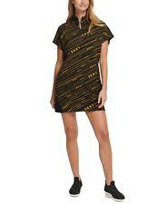 NEW Women's DKNY Sport Meteorite Logo-Print Dress Black Size Large