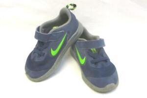 Nike Downshifter TDV Easy Fasten Sneakers Toddlers Size 7 Blue Neon Green