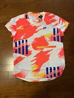 Men Nike Challenge Court Crew CK9797-100 NWT Agassi Rare Tennis Comfort Size L