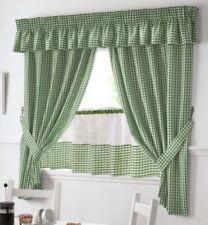 Rideaux et cantonnières panneaux verts en polyester pour la maison