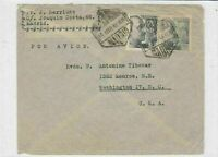spain  1948 airmail stamps cover ref 19333
