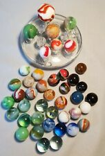 VINTAGE GLASS ASSORTED MARBLES LOT