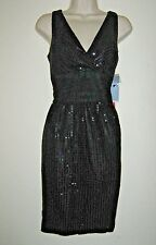 Womens London Times Black Sequin Dress Size 8 Cocktail Party Weddings Evening