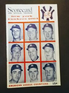 Vintage Sports Memorabilia with Yankee Score Card and Who's Who in Baseball