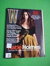 W magazine August 2005 Katie Holmes David Sims Ewan McGregor michael thompson