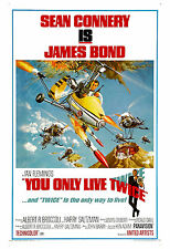James Bond: * You Only Live Twice *  Sean Connery Poster 1967 Large Format 24x36