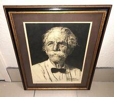 "(RARE) Norman Rockwell, ""Albert Schweitzer"", Framed Serigraph (1974) #154/1250"