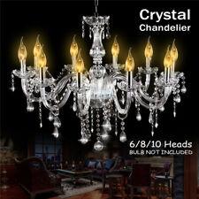 Elegant Crystal Chandelier Modern E12 6/10 Heads Pendant Ceiling Light