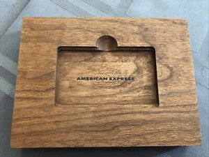 Amex Platinum wood Tablet Phone stand Card Holder American Express