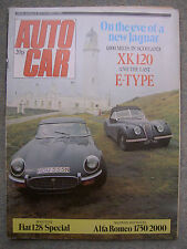 Autocar (6 Sep 1975) Jaguar E-Type & XK120, Caterham Super 7, VW Golf, Fiat 128