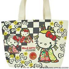 Sanrio Hello Kitty Japanese pattern Canvas Tote Bag KIMONO MIYABI