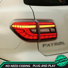 New For Nissan Armada LED Taillights 2017-2020 Dark LED Rear Lamps Dynamic