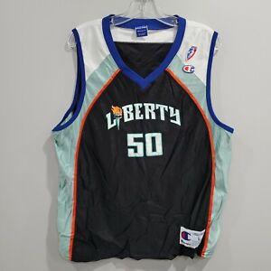 Rare VTG 90s WNBA Champion New York Liberty Lisa Lobo 50 Jersey Womens L UCONN