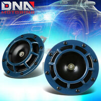 DUAL SUPER LOUD BLAST TONE 12V ELECTRIC GRILLE/GRILL MOUNT COMPACT HORNS BLUE