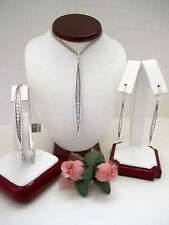"Brighton ""CONTEMPO ICE"" Necklace-Earring-Bracelet Set (MSR$174) NWT/Pouch"