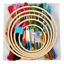 50 Colorful Embroidery Thread Starter Kit Fabric-Set Cross Stitch  Craft Tools