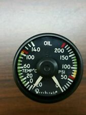 Beechcraft Oil Temp and Pressure Indicator 101-384155-7 New