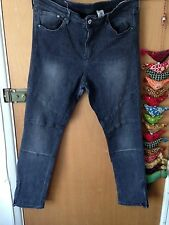 Grey Skinny Ankle Biker Jeans From H&M  W36 L32 Excellent Condition