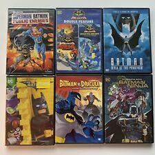 Lot Of 6 Batman Animated Dvds Phantasm Ninja Dracula Lego Monster Mayhem