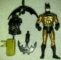 BATMAN Action Figure w gold torso  1990 Kenner DC Comics vintage