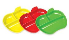 Munchkin Lil Apple plates - Childrens Divider Plates - Set of 3