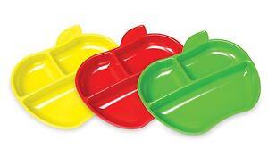 Munchkin Lil Apple plates - Childrens Divider Plates - Set of 3