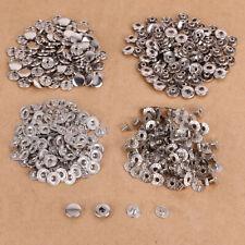 100 x Bouton pression métal 10mm argenté pour cuir maroquinerie vetement jean