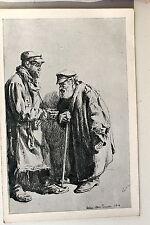 24594 Ak Wilna Drawing Dealer Jews? 1918 Lithuania PC Lithuania Vilnius
