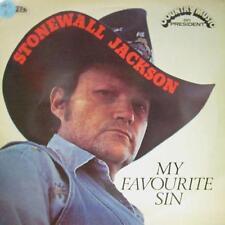 Stonewall Jackson(Vinyl LP)My Favourite Sin-President-PRC 101-UK-VG/Ex