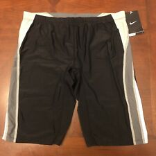 Nike Men's Jammer Size 36 Competition Swimsuit Swim Compression Spandex Black