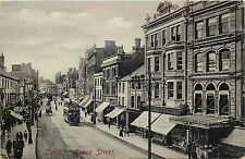 Cardiff Queen Street stores tramway 1920s postcard