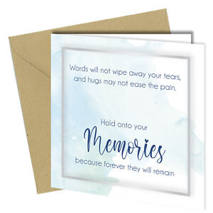 #1487 Sympathy Cards Bereavement Condolence Mourning Sorry For Your Loss Death