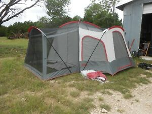 Kelty Ridgeway Saratoga Large Camping Tent 10-Person 3-Room Cabin Screen Porch