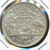 Australia, 1962 Florin, 2/-, Elizabeth II (Silver) - Uncirculated