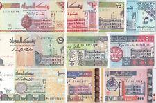 SUDAN 5 10 25 50 100 200 500 1000 2000 5000 DINARS 1992 2002 P-51 :63 SET 10 UNC
