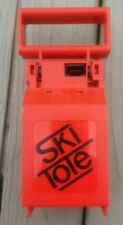 Vintage Ski Tote Red Carrying Handle Locking System Skis and Poles Transport