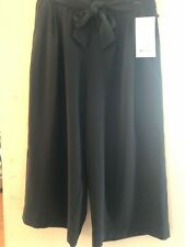 LULULEMON NOIR CROP  BLACK HIGH-WAISTED WIDE LEG CROPPED PANTS WOMEN'S SIZE 12