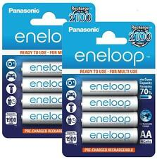 Panasonic Eneloop AA-8 Pre-Charged Rechargeable Battery up to 2100 Charges