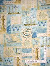 Nautical Lighthouse Sailing Ocean Cotton Fabric Windham Tall Ships By The Yard