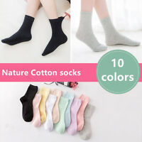 HOT 5 Pairs Womens Candy Color Cute Ankle 100% Cotton Sports Casual socks 5-8