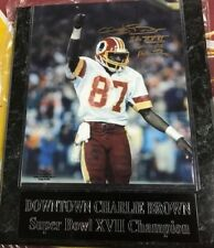 Washington Redskins Super Bowl autographed signed Downtown Charlie Brown plaque