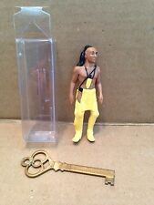 "INDIAN IN THE CUPBOARD PROMOTIONAL ""LITTLE BEAR"" PLASTIC FIGURE & KEY"