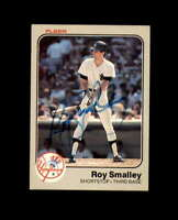 Roy Smalley Hand Signed 1983 Fleer New York Yankees Autograph