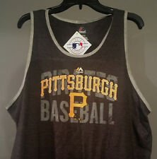 Pittsburgh Pirates Mens Tank Top Medium Gray McCutchen Bell PNC Park New