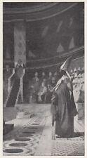 D7274 Cesare Maccari - Urbano II presiede il Concilio di Bari - 1930 old print