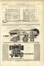 1874 Hurd Simpson Coal Cutting Machinery Dingler Boiler Movable Firebox