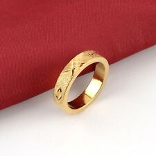 Men's Ring 18K Yellow Gold Filled Band Fashion Jewelry Size 9