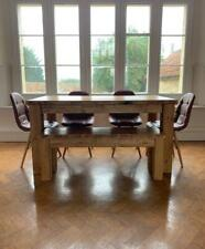 Rustic Plank Top Dining Table with bench and 4 Chairs, Dining room / kitchen