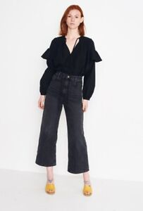 Rachel Comey Black Willow Blouse Top Size 0 Good For AUS10🐺